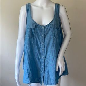 Torrid Denim Style Button Down Tank Top